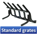 Click here to view our Standard grates. We also offer Decorative grates, Firebacks, Outdoor firepits etc... You can view those products by clicking one of the links on the left of this page.