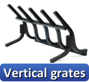 Click here to view our Vertical grates. We also offer Decorative grates, Firebacks, Outdoor firepits etc... You can view those products by clicking one of the links on the left of this page.