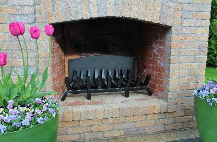 TG-36 traditional fireplace grate shown