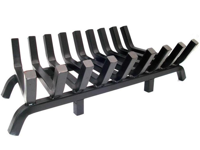 Super Heavy Duty Fireplace Grate 36 Inch Wide 1 Inch Solid Steel