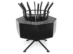 Tall Fire Pit With Barbecue Grill Attachment