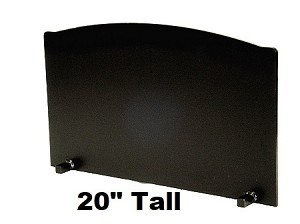"3/4"" x 20"" Tall T-HDRF-7 Reflective Fireback 31"" Wide"